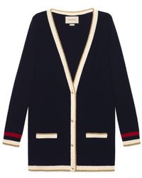 Gucci - Embroidered Oversize Knit Cardigan - Lyst