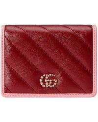 Gucci GG Marmont Brieftasche - Rot