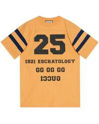 Gucci T-shirt à imprimé « 25 Eschatology/Maison de l'amour » - Jaune