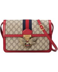 Gucci - Borsa a spalla Queen Margaret in tessuto GG Supreme misura media - Lyst