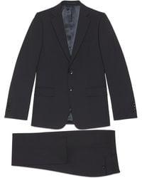 Gucci Anzug aus Mohairwolle mit schmaler Passform - Blau