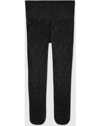 Gucci Interlocking G Tights - Black
