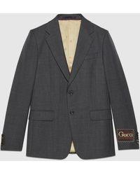 Gucci Jackett aus wolle mit etikett - Grau