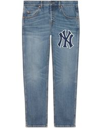 Gucci - Hose aus Denim mit NY YankeesTM-Patch - Lyst
