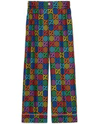 Gucci Pantalon de pyjama à imprimé GG psychédélique - Noir