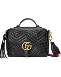 Gucci Sac à épaule GG Marmont matelassé - Noir