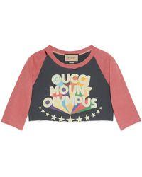 Gucci T-shirt con stampa 'Mount Olympus' - Nero