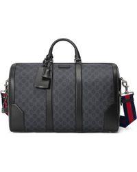 Gucci Bolso de viaje GG Supreme suave - Negro