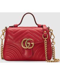 Gucci GG Marmont Mini-Henkeltasche - Rot