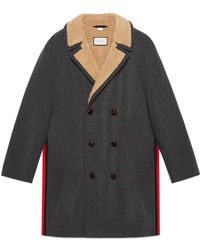 Gucci - Felt Coat With Wool Lining - Lyst