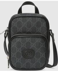 Gucci Mini Tasche mit GG - Schwarz