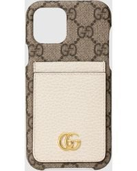 Gucci GG Marmont iPhone 12/12 Pro Hülle - Natur