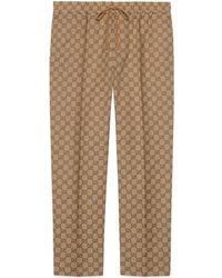 Gucci Pantalón de chándal de lona GG - Neutro