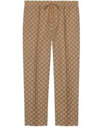 Gucci GG Print Drawstring Pants - Natural