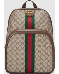 Gucci 【公式】 (グッチ)〔オフィディア〕GG ミディアム バックパックGGスプリーム ベージュ - ナチュラル