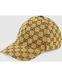 Gucci GG Multicolor Baseballkappe aus Canvas - Gelb