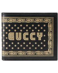 Gucci - Portefeuille à rabat et imprimé Guccy - Lyst