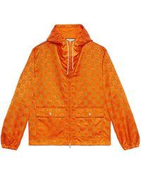 Gucci Off The Grid Hooded Jacket - Orange