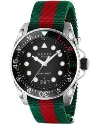 Gucci Dive-Uhr, 45 mm - Grün