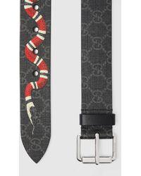Gucci GG Gürtel mit Kingsnake-Print - Schwarz