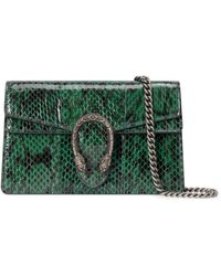 Gucci Dionysus Super Mini Snakeskin Bag - Green