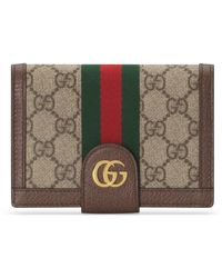 Gucci Diy Ophidia GG Card Case Wallet - Natural
