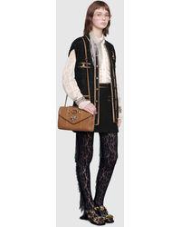 Gucci Ärmellose Weste aus Tweed mit Bandbesatz - Schwarz