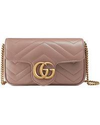 Gucci GG Marmont Matelassé Leather Super Mini Bag - Pink