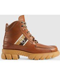 Gucci Boot mit GG - Braun