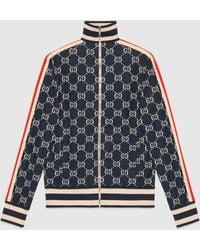 Gucci グッチ公式GGジャカード コットン ジャケットブルー/アイボリー GGジャカードcolor_descriptionウェア