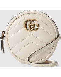 Gucci GG Marmont Mini-Tasche - Weiß