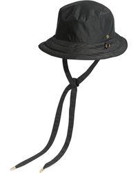 Gucci Wendbarer Hut aus GG Canvas und Nylon - Schwarz