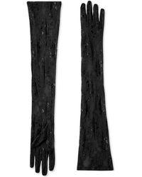Gucci Gants long en dentelle - Noir