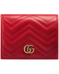 Gucci Kartenetui GG MARMONT - Rot