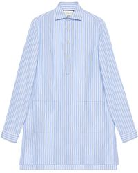 Gucci - Cotton Oversize Shirt With Pockets - Lyst
