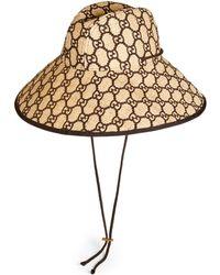 Gucci - Sombrero de Rafia de Ala Ancha con GG - Lyst 618945181cc