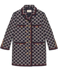 Gucci Mantel aus GG Tweed - Mehrfarbig