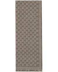 Gucci Bufanda de lana de jacquard con GG - Neutro