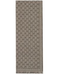 Gucci GG Jacquard Wool Scarf - Natural