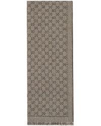 Gucci Schal aus GG Jacquard aus Wolle - Natur