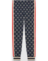 Gucci グッチGGジャカード ジョギングパンツ - ブルー