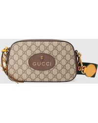 Gucci グッチ公式〔ネオ ヴィンテージ〕GGスプリーム メッセンジャーバッグベージュ/エボニーcolor_descriptionGGキャンバス - ナチュラル