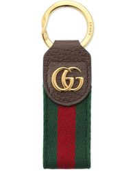 Gucci Ophidia Keychain - Brown
