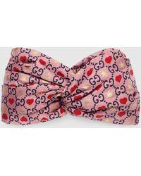 Gucci Stirnband aus Seide - Pink