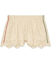 Gucci Flower Lace Shorts - Green