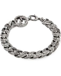 Gucci Interlocking G Chain Bracelet In Silver - Metallic