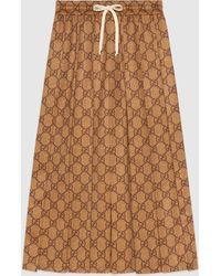Gucci - グッチGGテクニカルジャージー スカート - Lyst