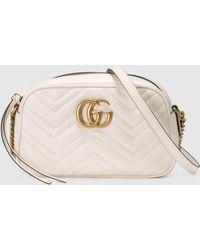 Gucci - GG Marmont Mini Tasche aus Matelassé Leder - Lyst