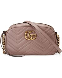 Gucci - Women's Porcelain Rose Pink Marmont Leather Shoulder Bag - Lyst