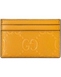 Gucci - GG Embossed Card Case - Lyst